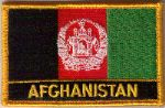 Afghanistan Embroidered Flag Patch, style 09.